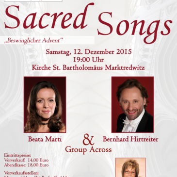 SACRED SONGS Adventskonzert 2015 in der St. Bartholomäuskirche in Marktredwitz
